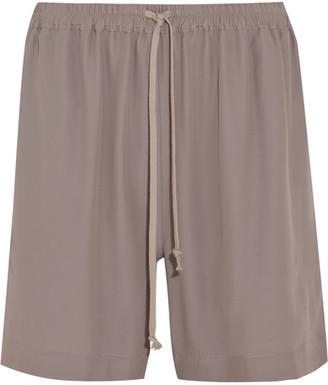 Rick Owens - Crepe De Chine Shorts - Gray $435 thestylecure.com