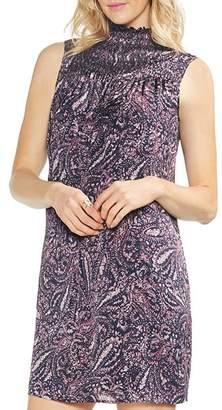 Vince Camuto Sleeveless Smocked Paisley-Print Dress