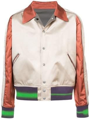 Maison Margiela satin classic collar bomber jacket