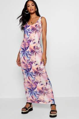 boohoo Tall Olivia Tropical Print Maxi Dress