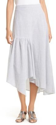 Women's Rachel Comey Steady Seersucker Midi Skirt $345 thestylecure.com