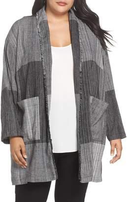 Eileen Fisher Long Cotton Jacket