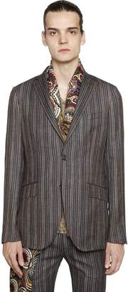 Etro Stripe Cool Wool Jacquard Jacket