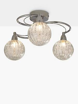 374e28223d24 John Lewis & Partners Robertson Semi Flush 3 Arm Ceiling Light, Chrome