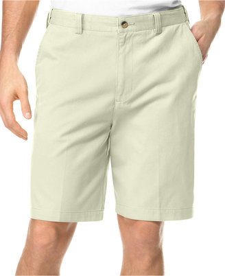 Geoffrey Beene Big and Tall Extender Waist Flat Front Shorts $50 thestylecure.com