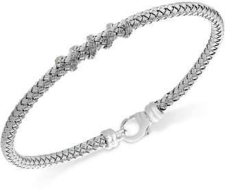 Effy Balissima by Diamond (1/8 ct. t.w.) Braided Bracelet in Sterling Silver