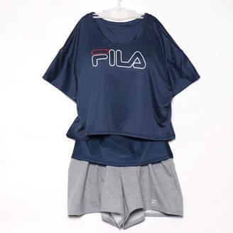 Fila (フィラ) - フィラ FILA レディース マリン 水着 ショートTシャツ・タンキニ 4点セット 228708【返品不可商品】