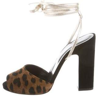 Pierre Hardy Animal Print Lace-Up Sandals w/ Tags