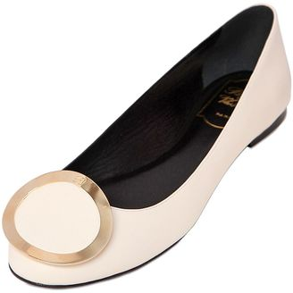 Leather Ballerina Flats $675 thestylecure.com