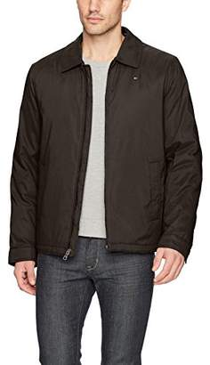 Tommy Hilfiger Men's Micro-Twill Open-Bottom Zip-Front Jacket