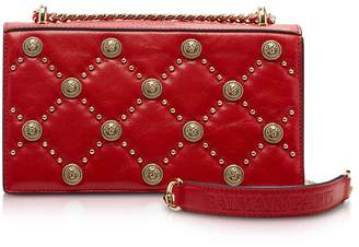 Balmain Red Love Lion Flap Shoulder Bag