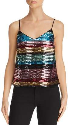 WAYF Murphy Rainbow-Stripe Sequined Camisole - 100% Exclusive