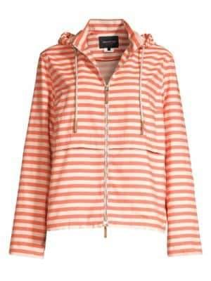 Lafayette 148 New York Joe Striped Hooded Jacket