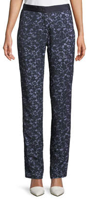 Piazza Sempione Lace Overlay Skinny Pants