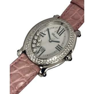 Chopard Happy Sport white gold watch
