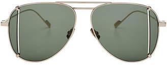 Saint Laurent Aviator Sunglasses with Cut-Out Detail