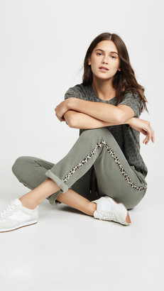 Sundry Trouser Sweatpants with Leopard Trim
