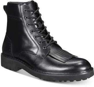INC International Concepts I.n.c. Men's Brix Kiltie Leather Boots, Created for Macy's Men's Shoes
