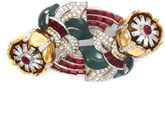 Loren Stazia Diamante floral brooch