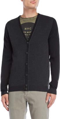 Gaudi' Gaudi Pique Knit Button Cardigan