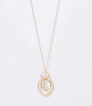 LOFT Linked Pendant Necklace