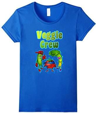 Womens Funny Vegetable Shirt Veggie Crew T-Shirt Gift Large