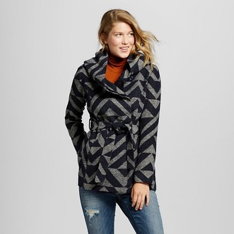 Mossimo Supply Co. Women's Faux Wool Wrap Jacket Blue - Mossimo Supply Co. $39.99 thestylecure.com