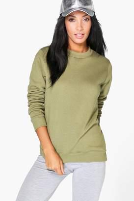 boohoo Sophia Basic Oversized Sweatshirt