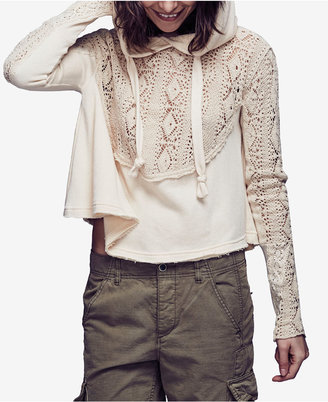 Free People Sweet Tooth Hooded Sweater $128 thestylecure.com