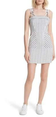 Milly Apron Linen & Cotton Minidress