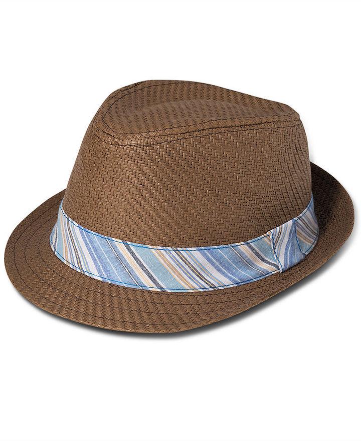 American Rag Hat, Multi Ribbon Straw Fedora