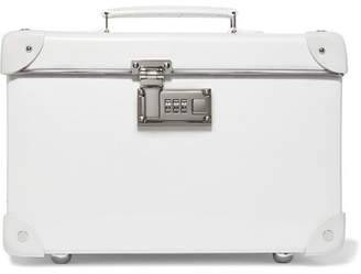 "Globe-trotter Pearl 13"" Leather-trimmed Fiberboard Vanity Case - White"