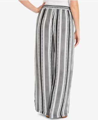 NY Collection Striped Tasseled-Drawstring Pants