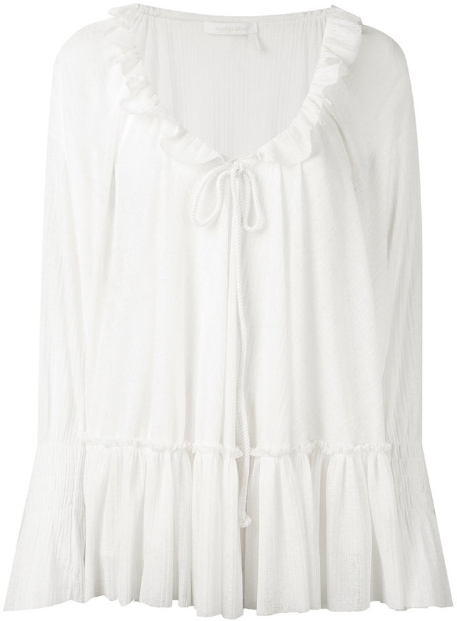 See By Chloe See By Chloé frilled peasant blouse