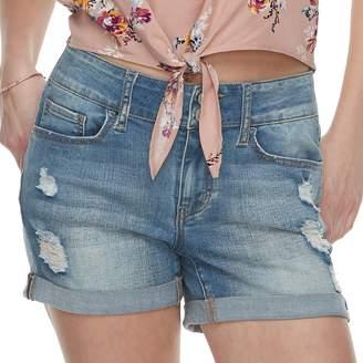 So Juniors' SO Double-Button Denim Midi Shorts