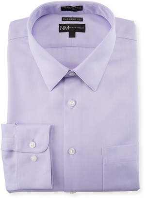 Neiman Marcus Men's Classic-Fit Non-Iron Herringbone Texture Sport Shirt