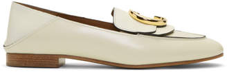 Chloé White C Convertible Loafers