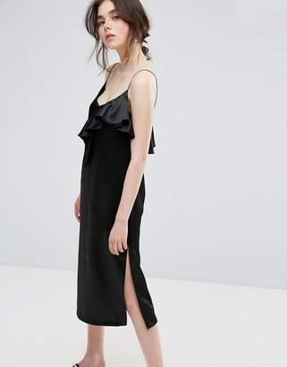 Plain Studios Cami Dress With Ruffle In Luxe Fabric