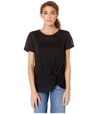 Bobeau B Collection by Rachelle Side Knot Tee
