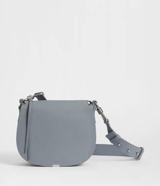 AllSaints Captain Leather Lea Round Crossbody Bag
