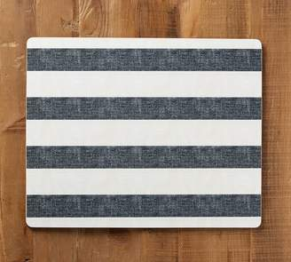 Pottery Barn Wheaton Wide Stripe Cork Mat - Sailor Blue