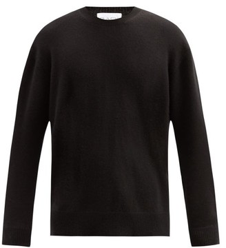 Raey Loose Fit Crew Neck Cashmere Sweater - Mens - Black