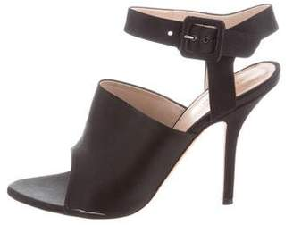 Celine Satin Ankle-Strap Sandals