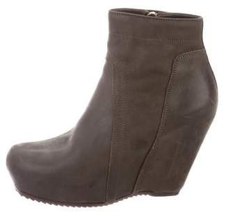 Rick Owens Ankle Wedge Boots