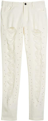 Mayoral Studded Distressed Jeans, Size 8-16