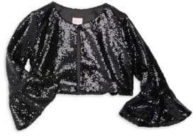Zoe Girl's Sofi Sequin Bell Sleeve Top