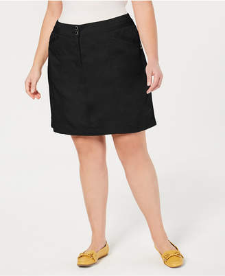 Karen Scott Plus Size A-Line Skort
