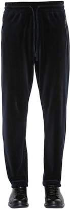 Giorgio Armani Cotton Velvet Sweatpants