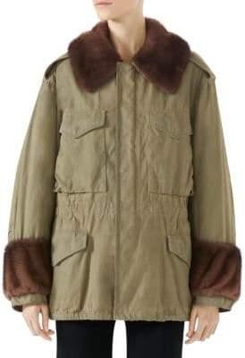 Gucci Mink Trimmed Coat