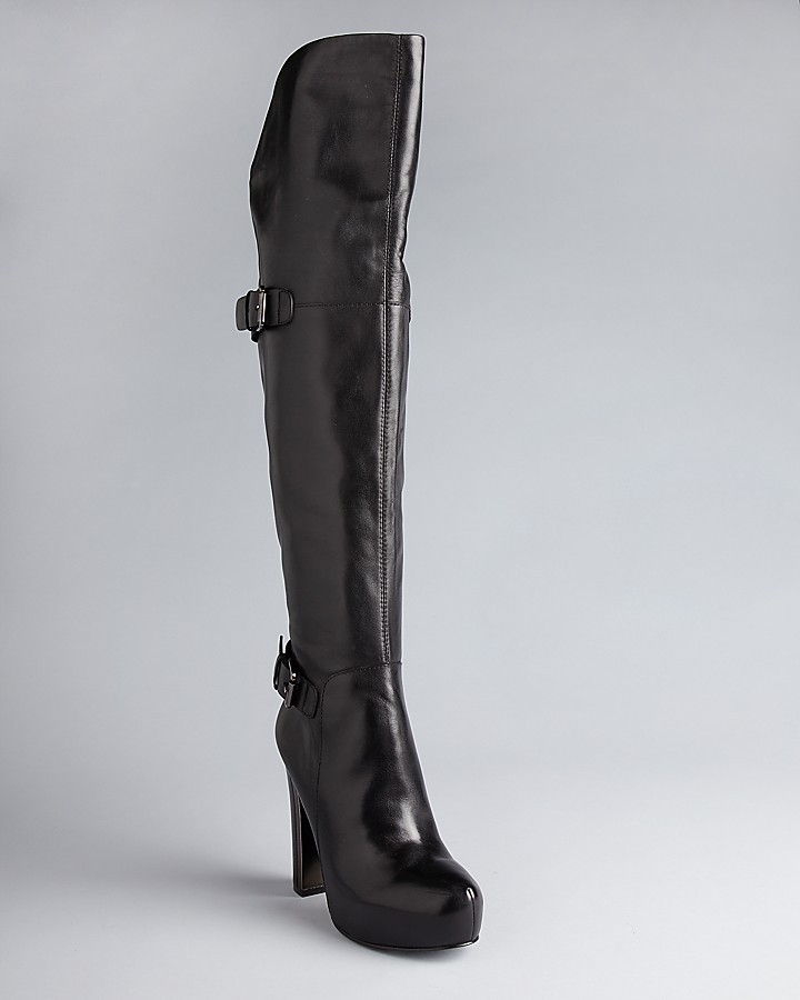 GUESS Over The Knee Platform Boots - Vale